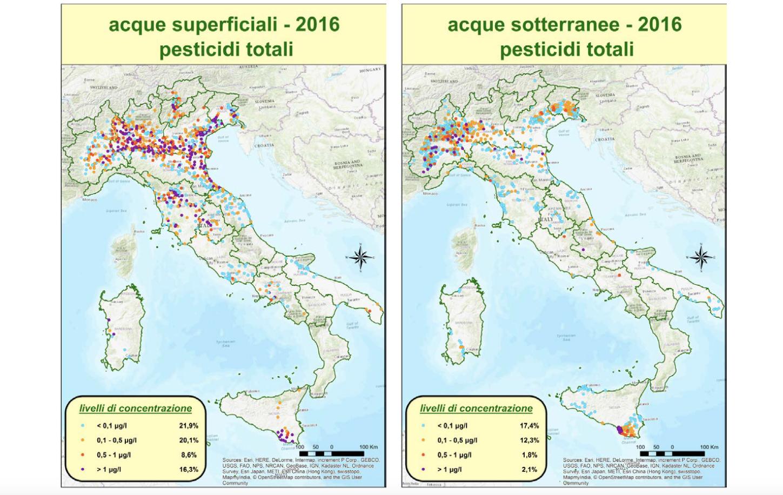 Rapporto nazionale pesticidi nelle acque dati 2015-2016. Edizione 2018